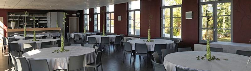 Salle de r ception la table d 39 auguste for Materiel salle restaurant